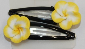 Blüten Haarspange gelb