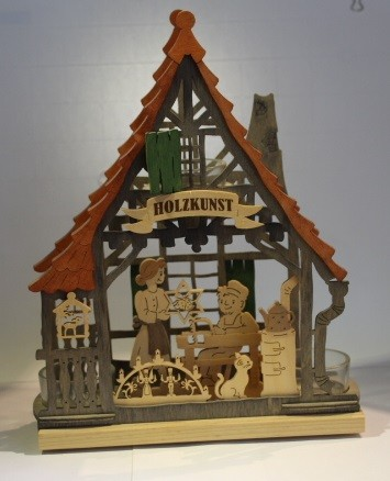 Teelichthaus Holzkunst