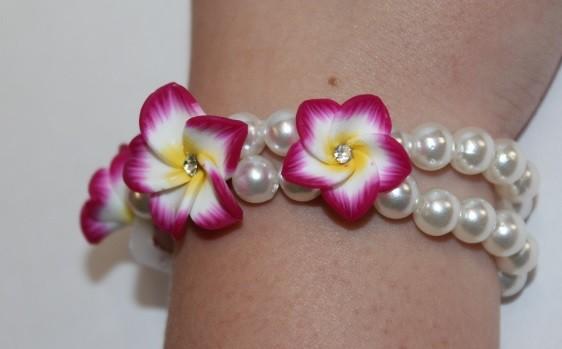 Blüten Armband purpur