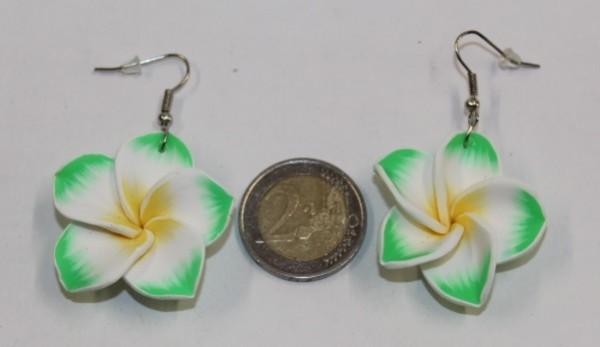 Blüten Ohrringe grün