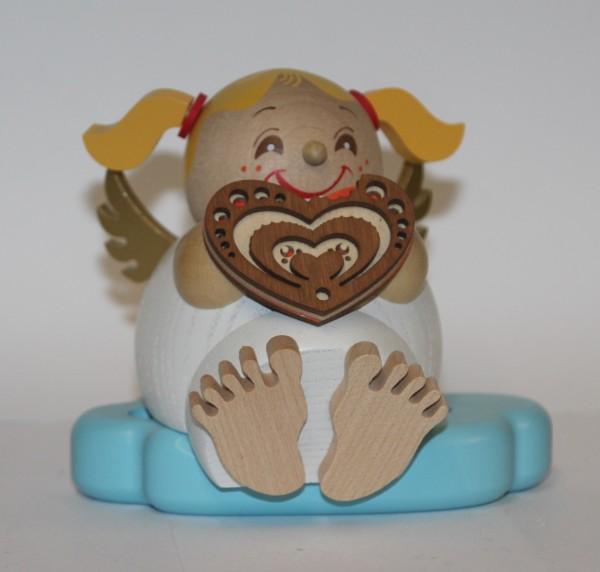 Räuchermann Engel mit Lebkuchenherz