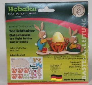 Teelichthalter Osterhasen Paar