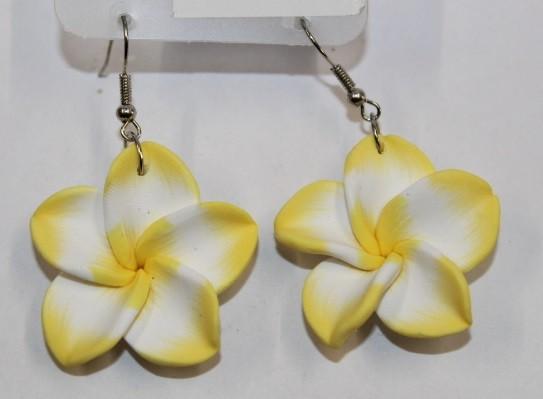 Blüten Ohrringe gelb