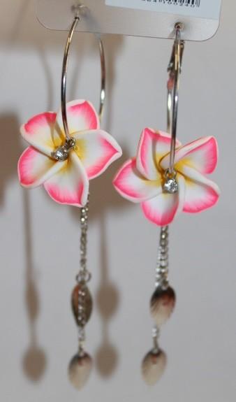 Blüten Kreolen pink