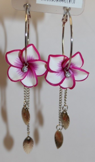 Blüten Kreolen fuchsia