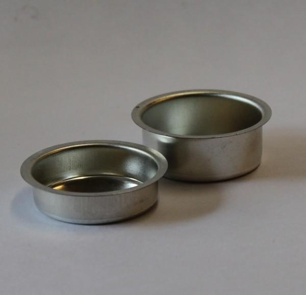 Kerzentüllen für Teelichter flach silber