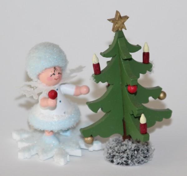 Schneeflöckchen mit Tannenbaum