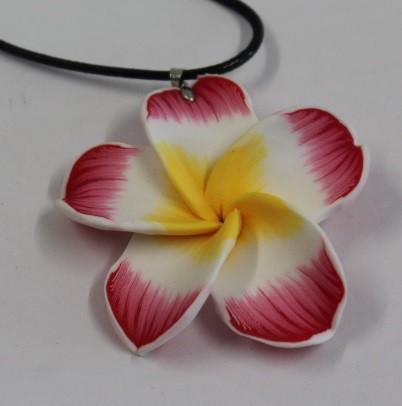 Blüten Halskette rot
