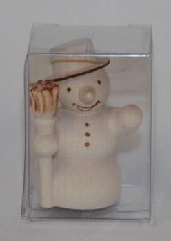Schneemann klein mit Besen