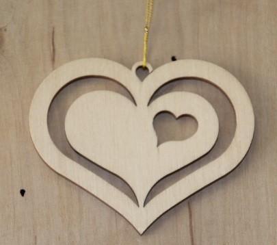 Straußschmuck Herz 1