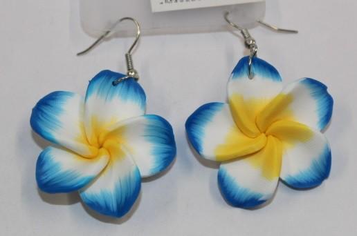 Blüten Ohrringe blau