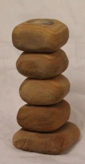 Teelichthalter 5 Steine aus Holz