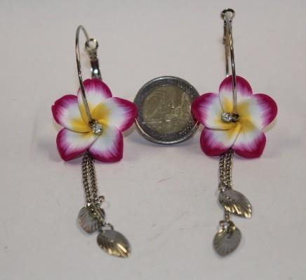 Blüten Kreolen purpur