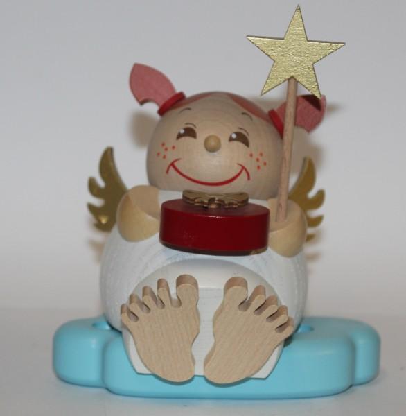Räuchermann Engel mit Geschenk