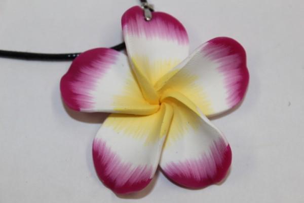 Blüten Halskette purpur