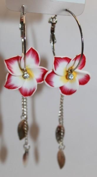 Blüten Kreolen rot