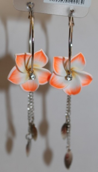Blüten Kreolen orange