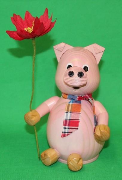 Oederaner Schwein mit Blume