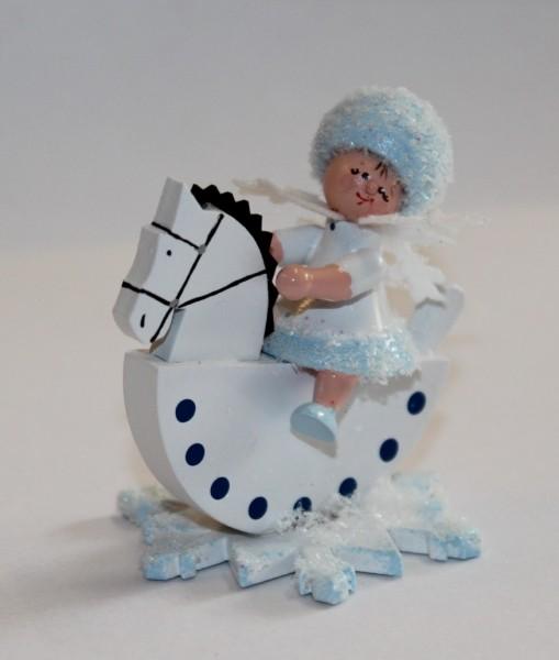 Schneeflöckchen als Reiterlein