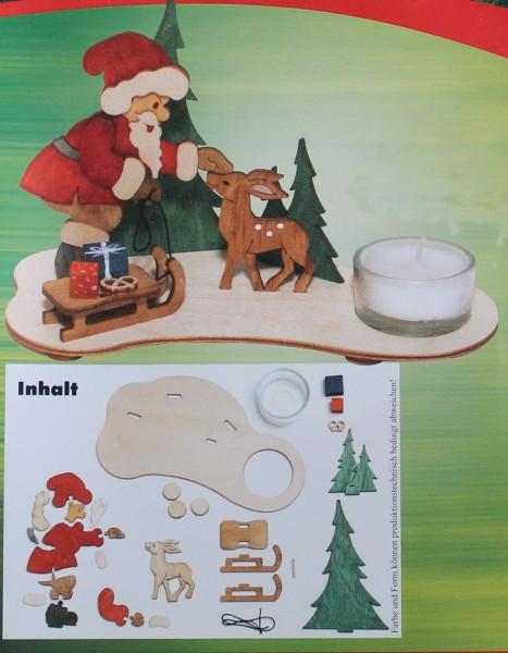 Teelichthalter Weihnachtsmann