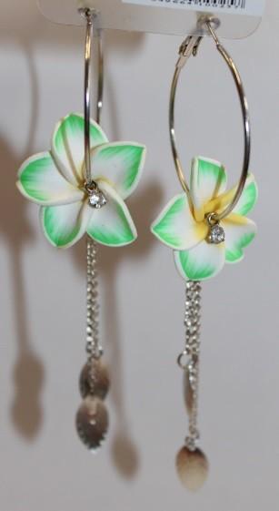 Blüten Kreolen grün