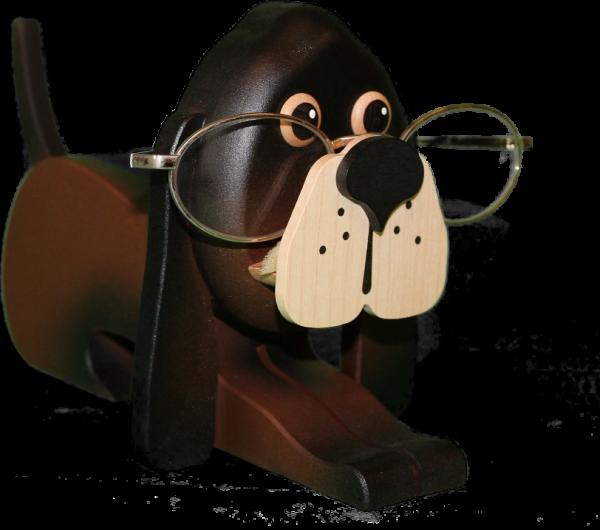 Brillenhalter Hund farbig