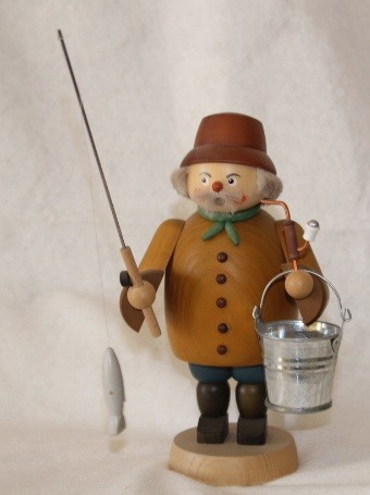 Räuchermann als Angler
