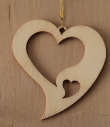 Straußschmuck Herz 2