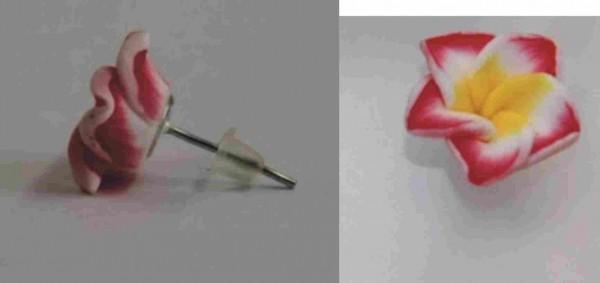 Blüten Ohrstecker rot